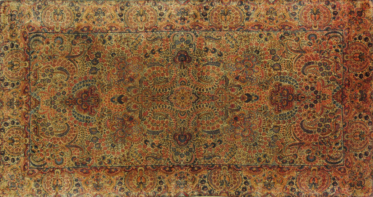 Orient teppich  Orient-Teppich / Blumenmotive / Wolle / rechteckig - KIRMAN LAVER ...