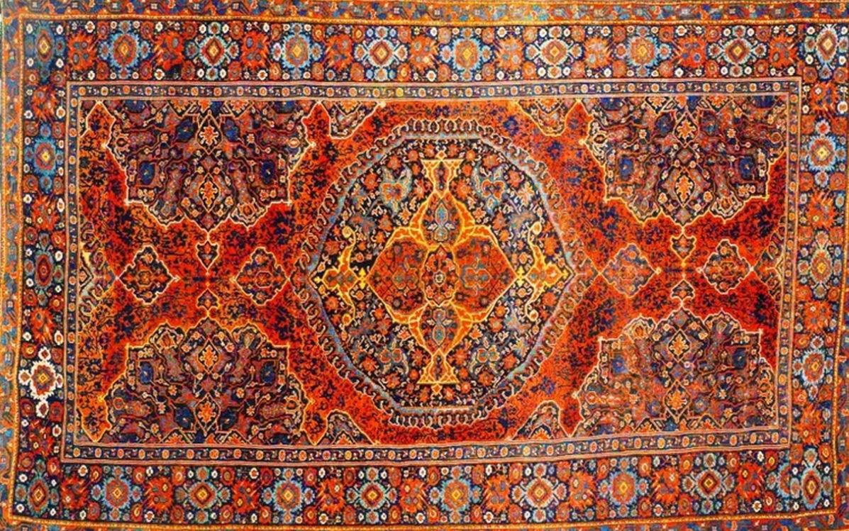 Orient teppich  Orient-Teppich / Motiv / Geometrische Motive / Wolle - ANTICO ...