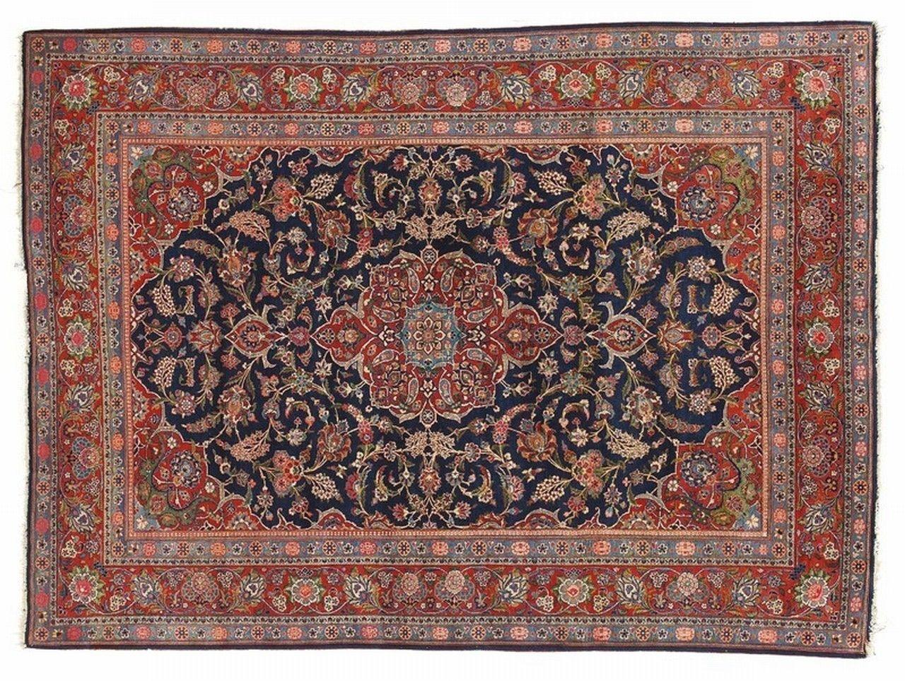 Orientteppich  Orient-Teppich / Blumenmotive / Wolle / rechteckig - KESHAN ...