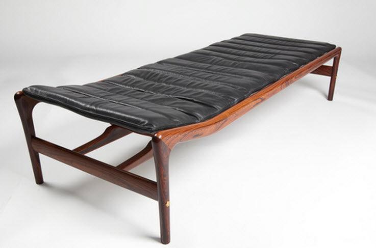 Recamiere design  Récamiere / Skandinavisches Design / Leder / aus Rosenholz / Nylon ...