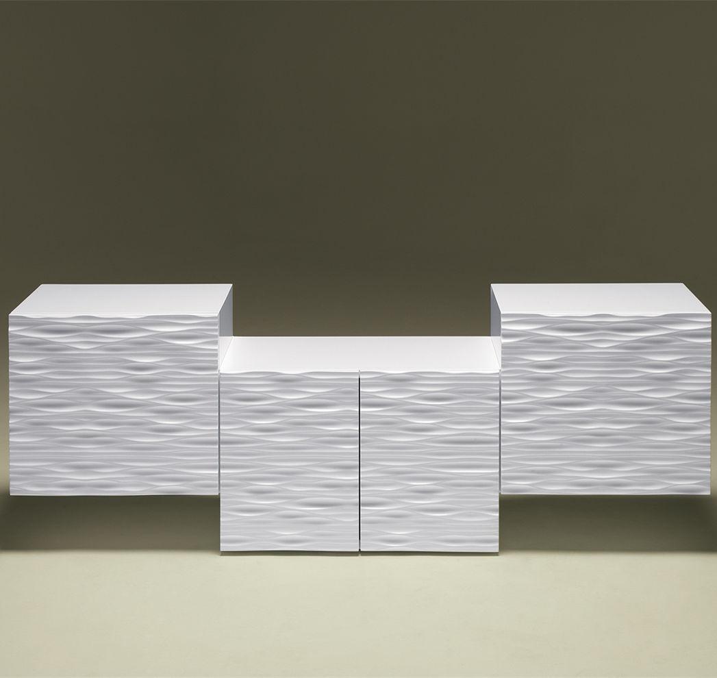 Sideboard design holz  Sideboard / originelles Design / lackiertes Holz / weiß - LOOP WEG ...