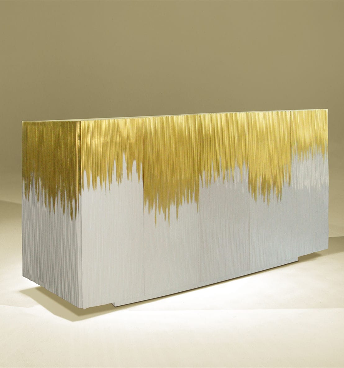 Modernes Sideboard Lackiertes Holz Weiss Golden Moon Gold