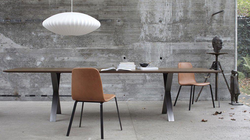 Moderner Tisch / Aus Eiche / Edelstahl / Lackierter Stahl   LAX By Gil Coste