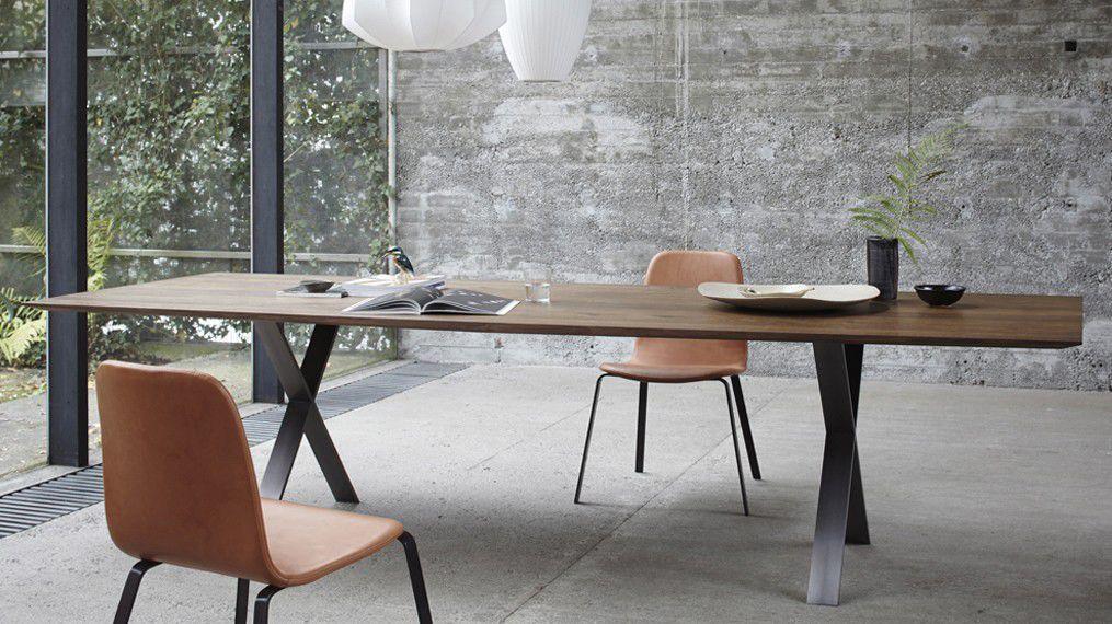 Moderner Tisch / Aus Eiche / Edelstahl / Lackierter Stahl LAX By Gil Coste  More Moebel ...