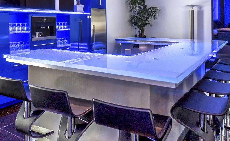 Moderner Barschrank / Glas / nach Maß / beleuchtet - 5 - ThinkGlass