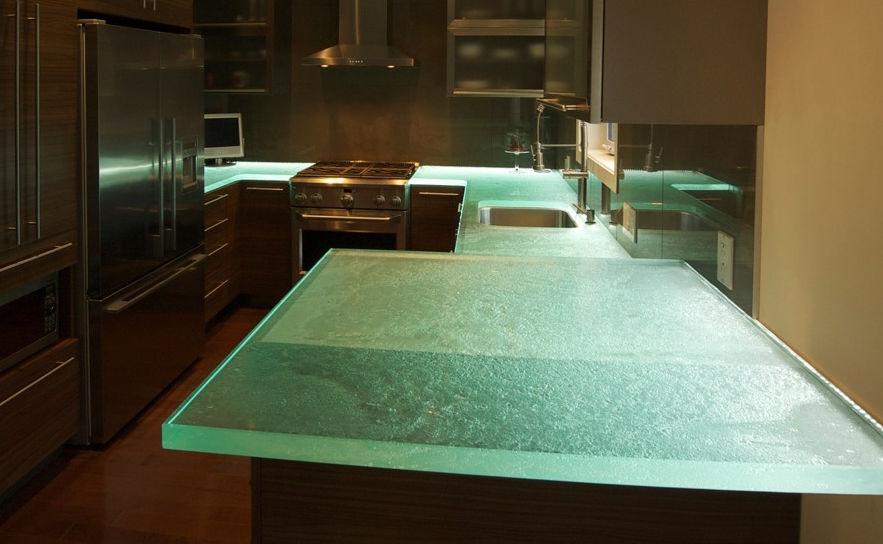 Glas arbeitsplatte küche  Glasarbeitsplatte / Küchen - GREAT KITCHEN II - ThinkGlass