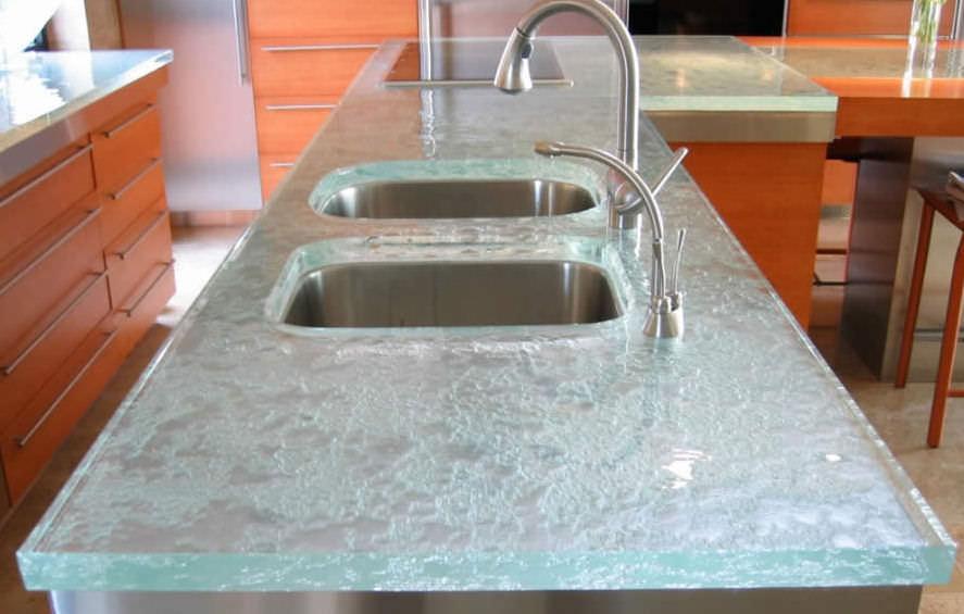 Glasarbeitsplatte / Küchen - ULTIMATE - ThinkGlass | {Arbeitsplatte glas 18}