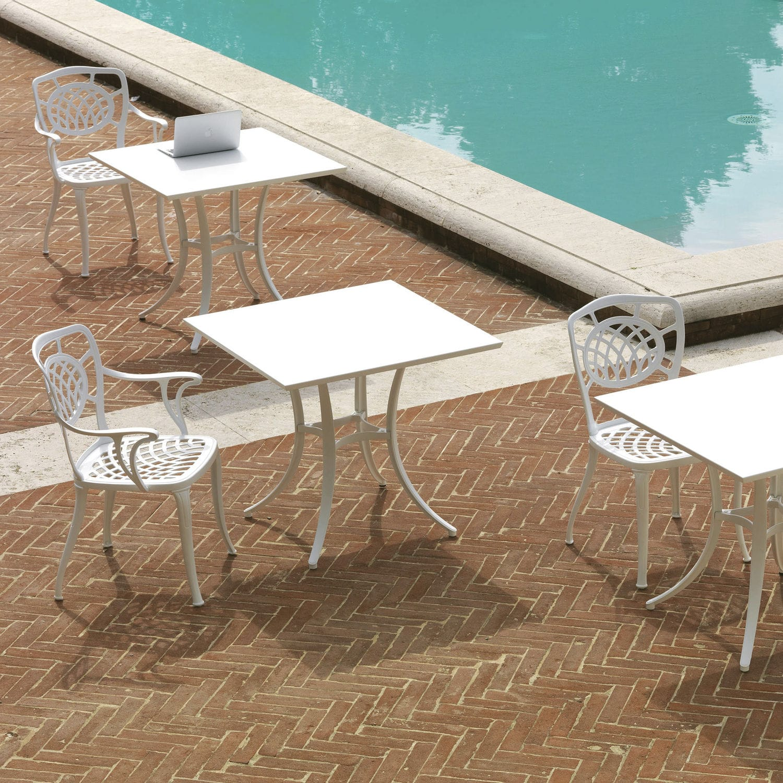 Klassischer Stuhl / Mit Armlehnen / Metall / Aluminium   ALTHEA 10