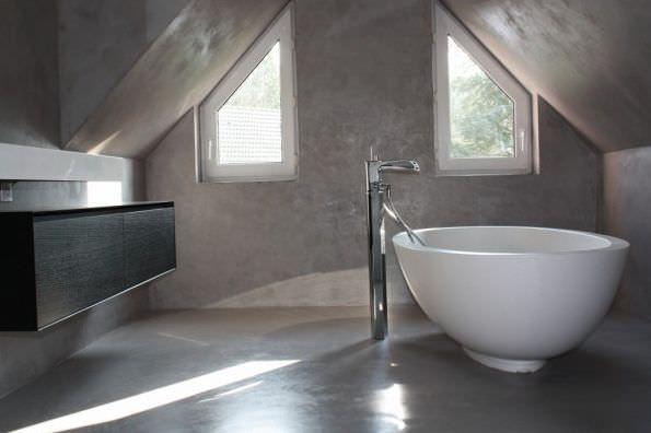 Beton Cire Interieur : Dekorputz innenraum zementfein polierte beton optik beton