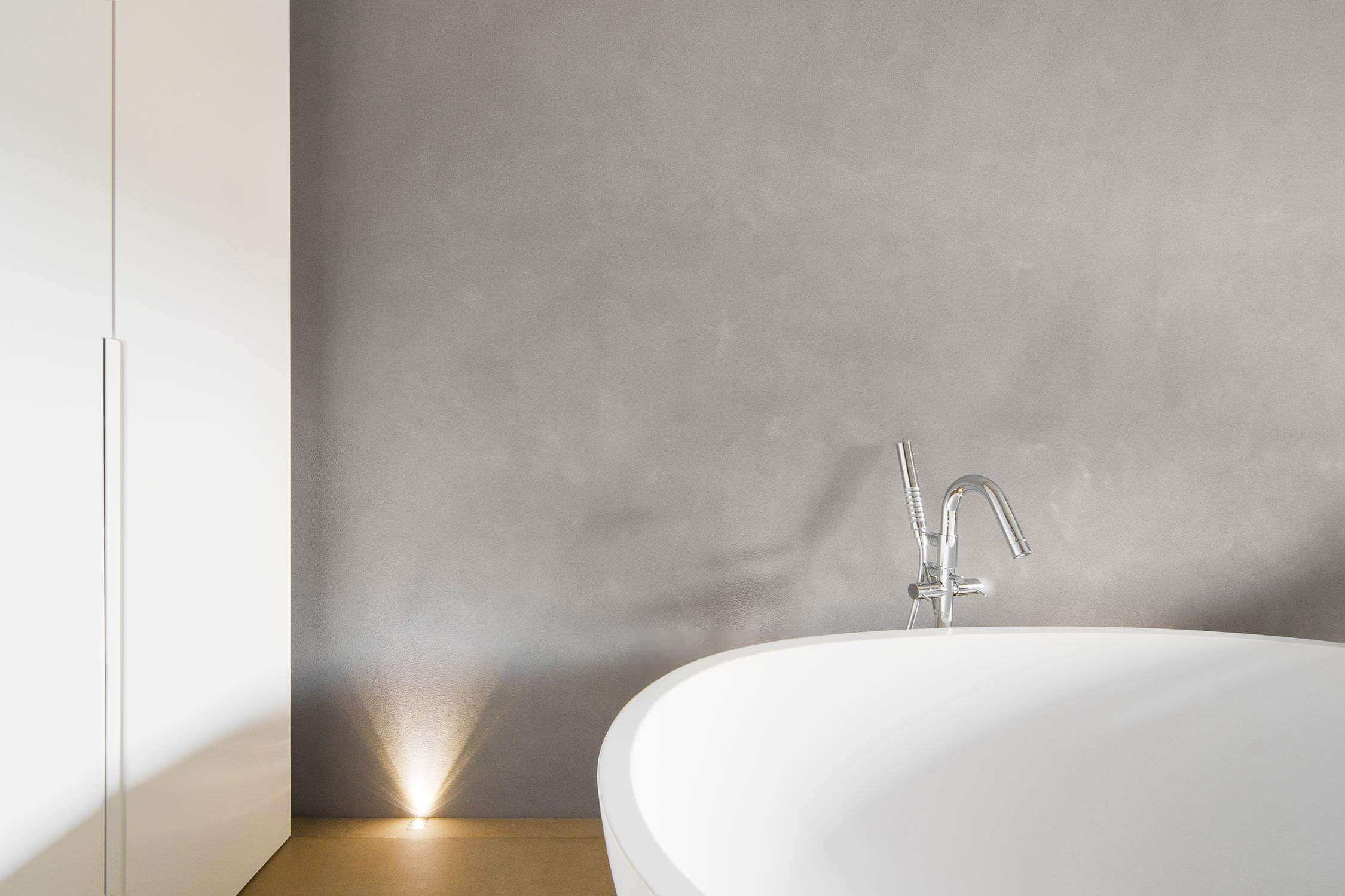 Shower and bathroom beton cire finish contemporary bathroom