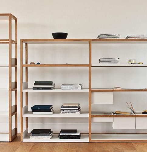 modul regal / modern / holz / metall - lap by marina bautier - case,