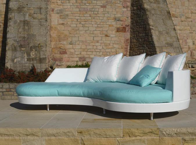 Sofa halbrund-geschwungen  Halbrundes Sofa / modern / für Außenbereich / Glasfaser - DIVA by ...