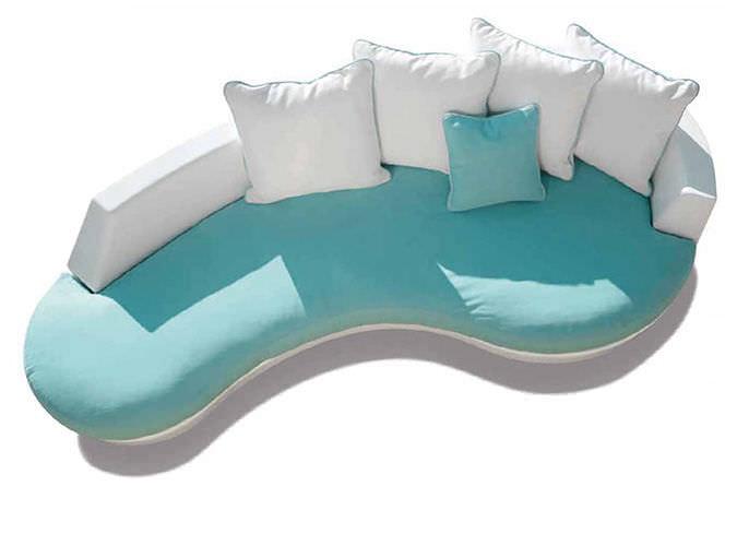 Sofa geschwungen  Halbrundes Sofa / modern / für Außenbereich / Glasfaser - DIVA by ...