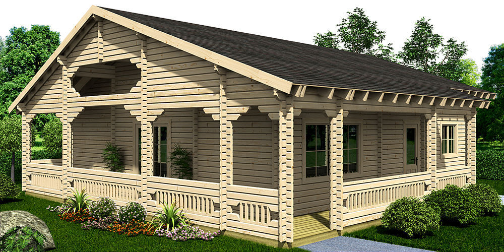 Garten Blockhaus Holz Modern Roos Ritsu As