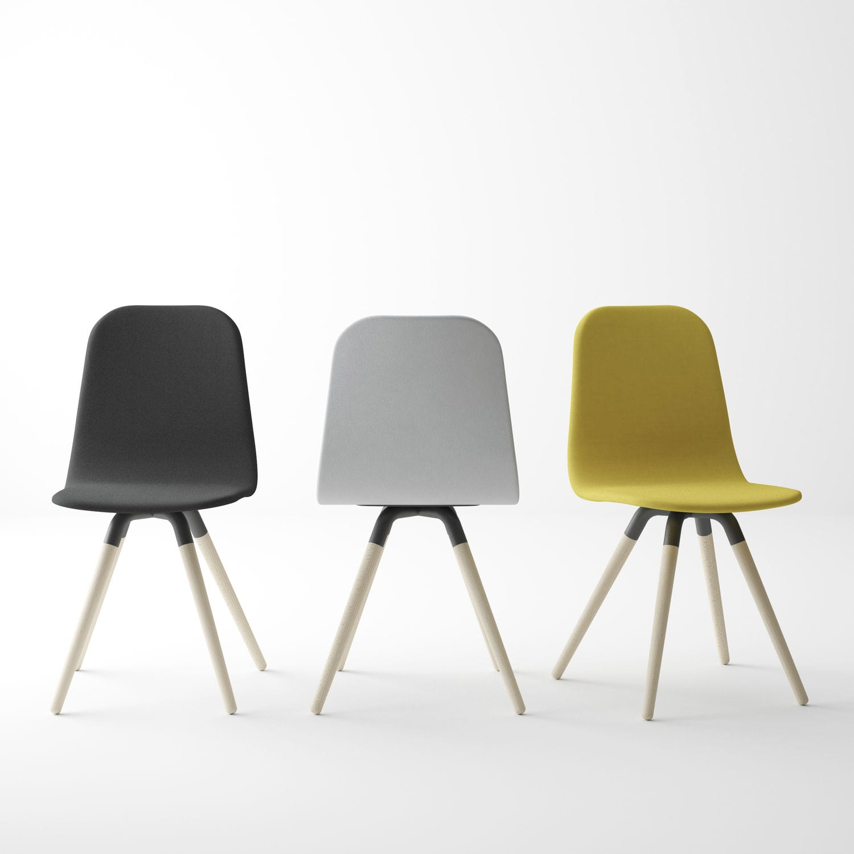 Good Stuhl / Skandinavisches Design / Stoff / Holz   NUBA Photo