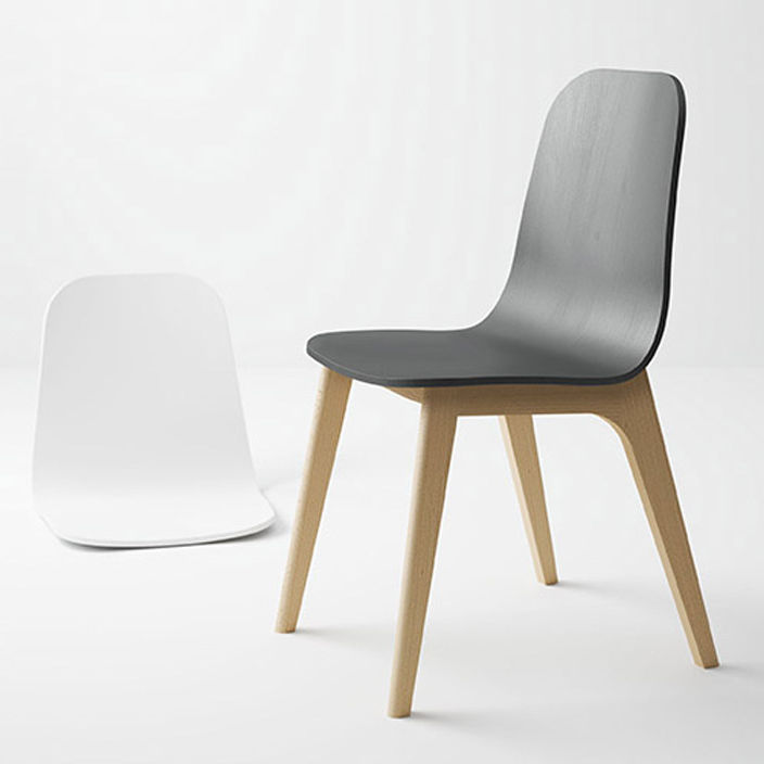 Stuhl / Skandinavisches Design / Polster / Ergonomisch / Stoff   ATLAS