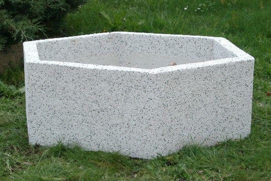 Beton-Pflanzkübel / sechseckig / rund / rechteckig - Marlux