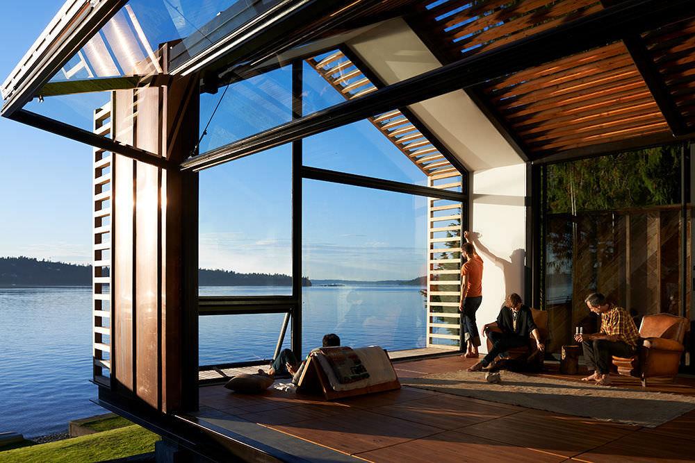 Garage modern holz  Individuelles Haus / modern / Holz / Metall - GARAGE - graypants ...