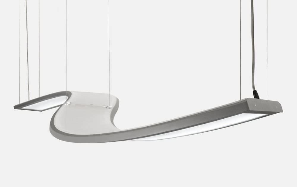 Hängelampe / originelles Design / Aluminium / LED - UNDA : 00-501K ...