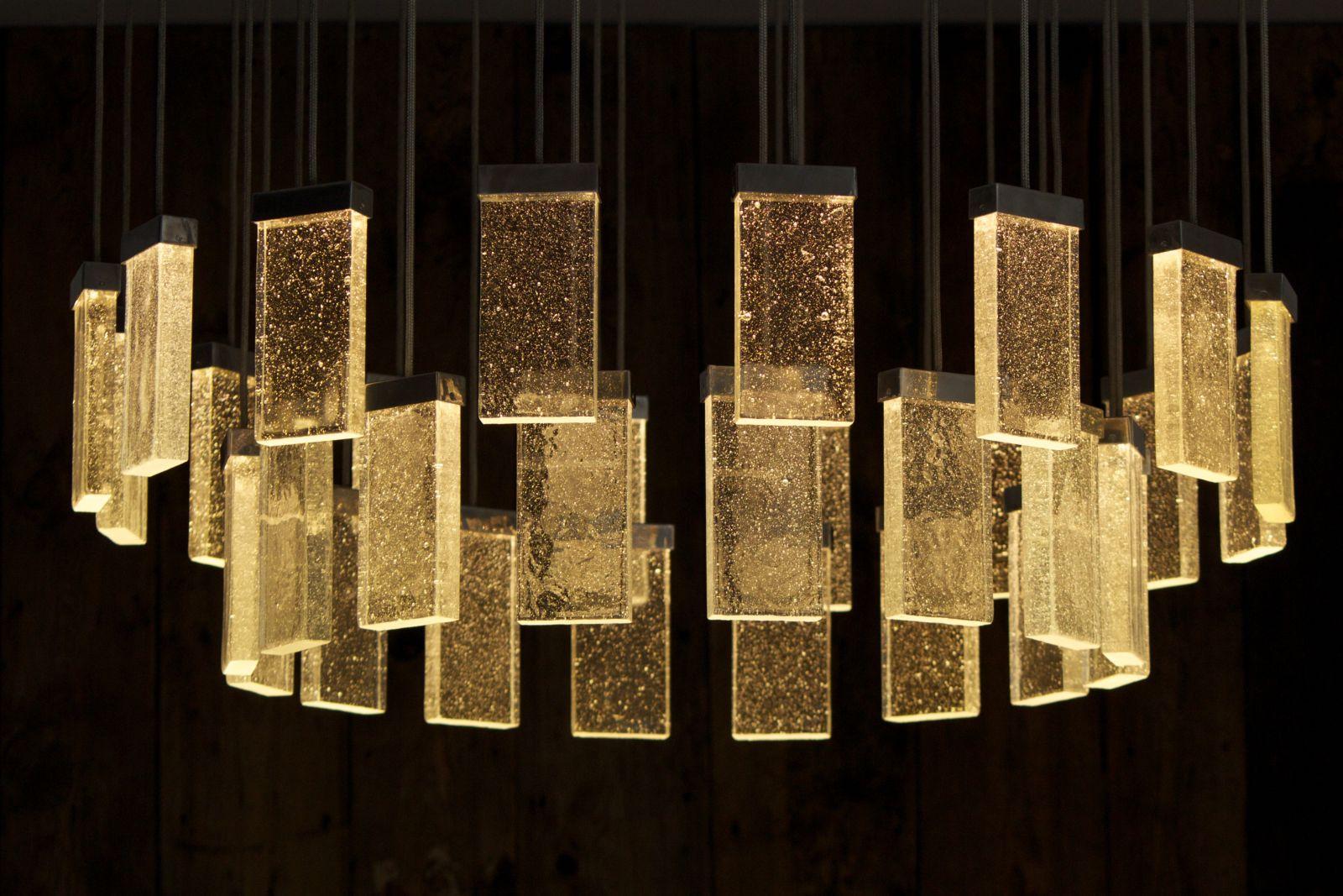Kronleuchter Modern Gold ~ Moderner lüster glas aluminium led grand cru chandelier