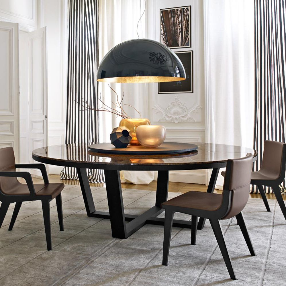Moderner Tisch Aus Marmor Aus Eiche Rund Xilos Maxalto