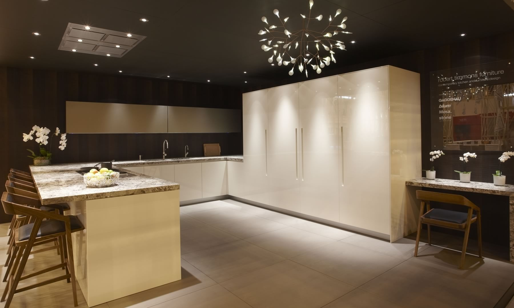 Moderne Küche / Holz / U-Rohr / lackiert - 100% DESIGN - robert ...