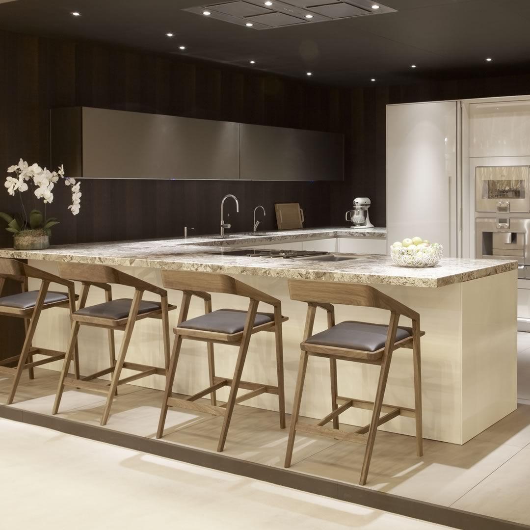 Moderne küche / holz / lackiert / hochglanz   100% design   robert ...