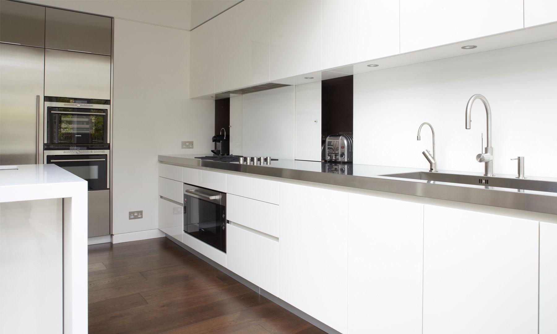 Moderne Küche / Edelstahl / Laminat / Kochinsel - FULHAM - robert ...