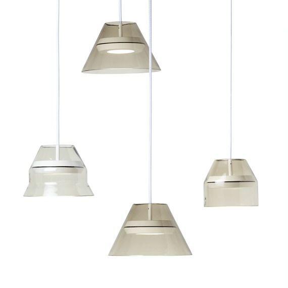 Hängelampe / modern / geblasenes Glas / Metall - HAL by Guillaume ...