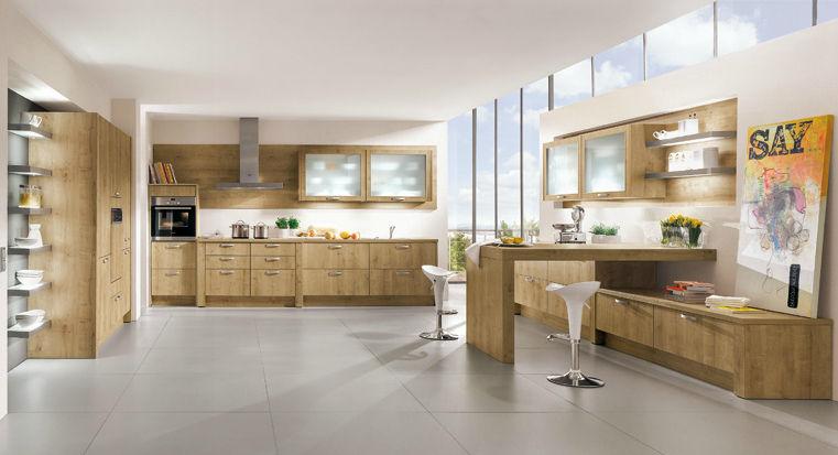Moderne Küche / Massivholz / Holz - Rio 698 - Nobilia
