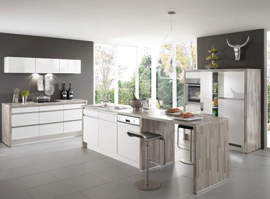 Moderne Küche / Holzfurnier / lackiert / ohne Griff - PRIMO 641 ...