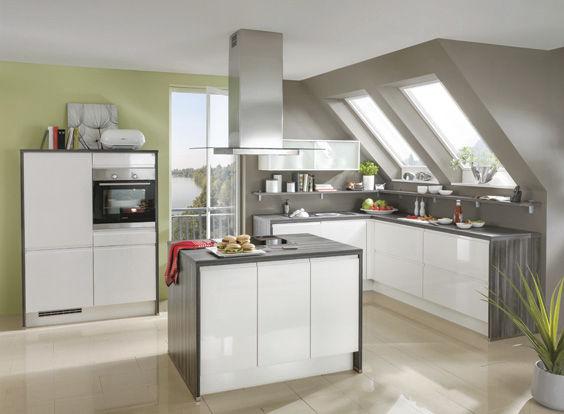 Design#5001378: Moderne küche / holz / kochinsel / lackiert - look 396 - nobilia. Kuche Mit Kochinsel Holz Marmor