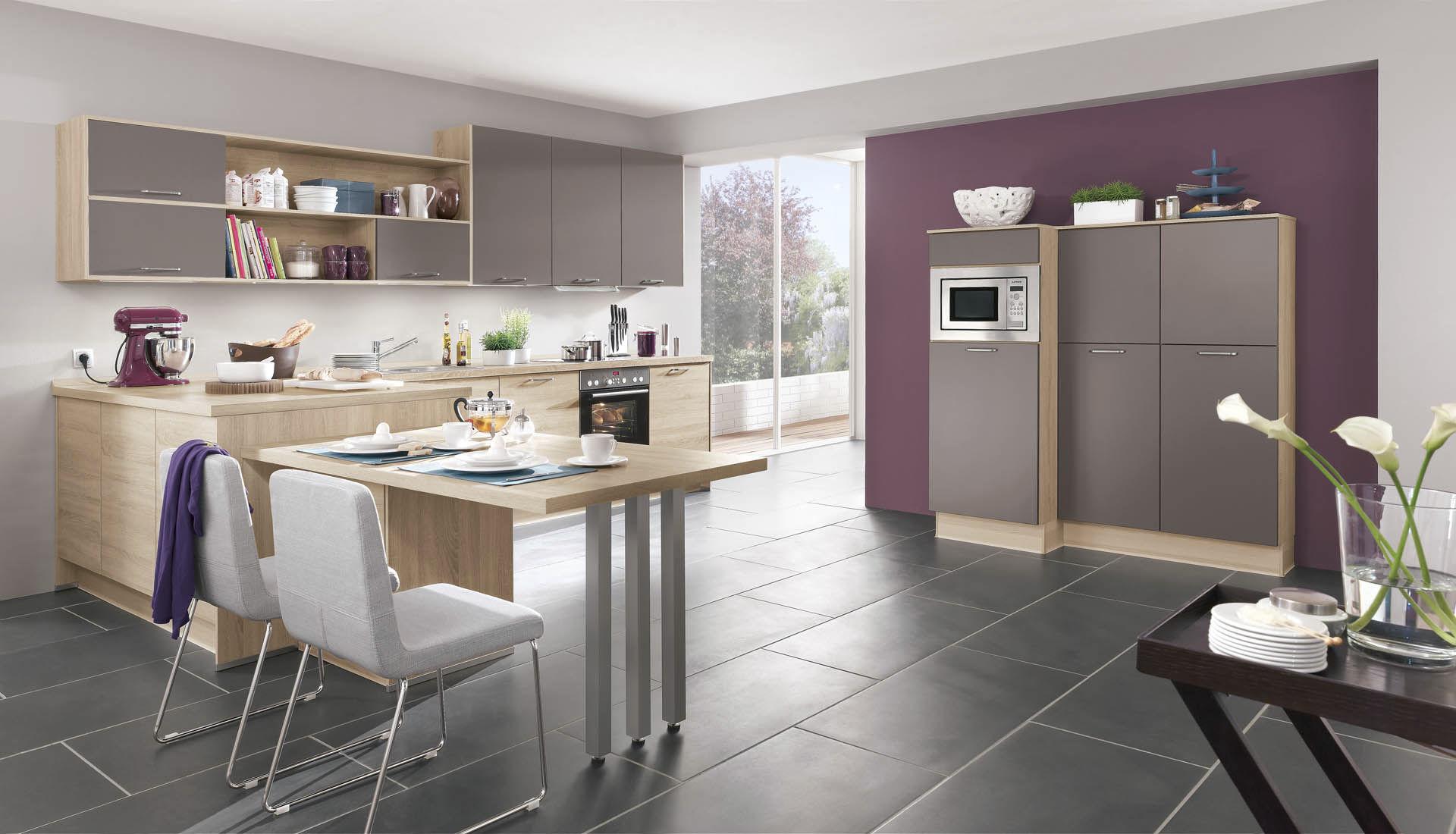 Moderne Küche / Holzfurnier / lackiert - SPEED 282 - nobilia