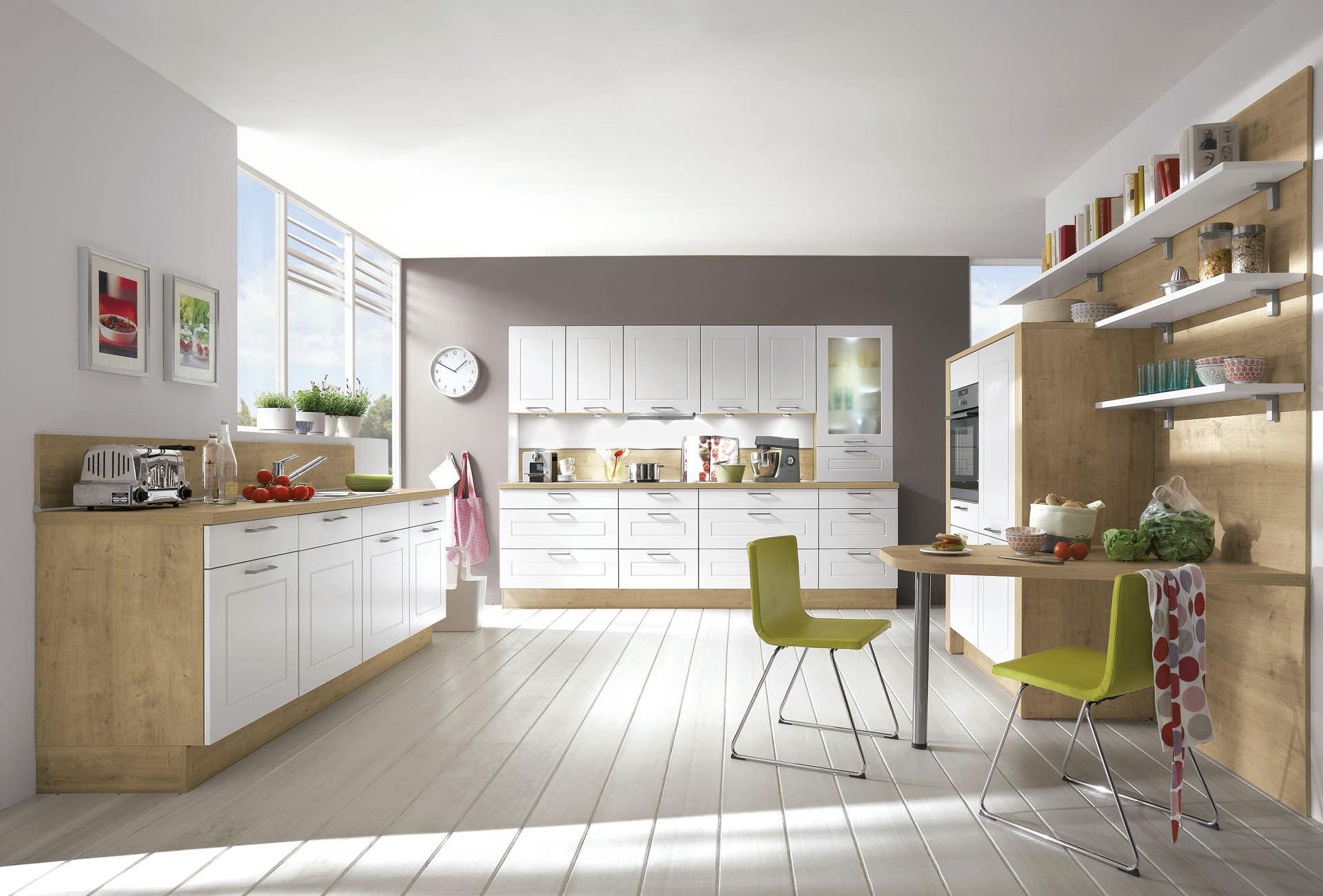 Moderne Küche / Massivholz / Holzfurnier / Holz   SMART 170
