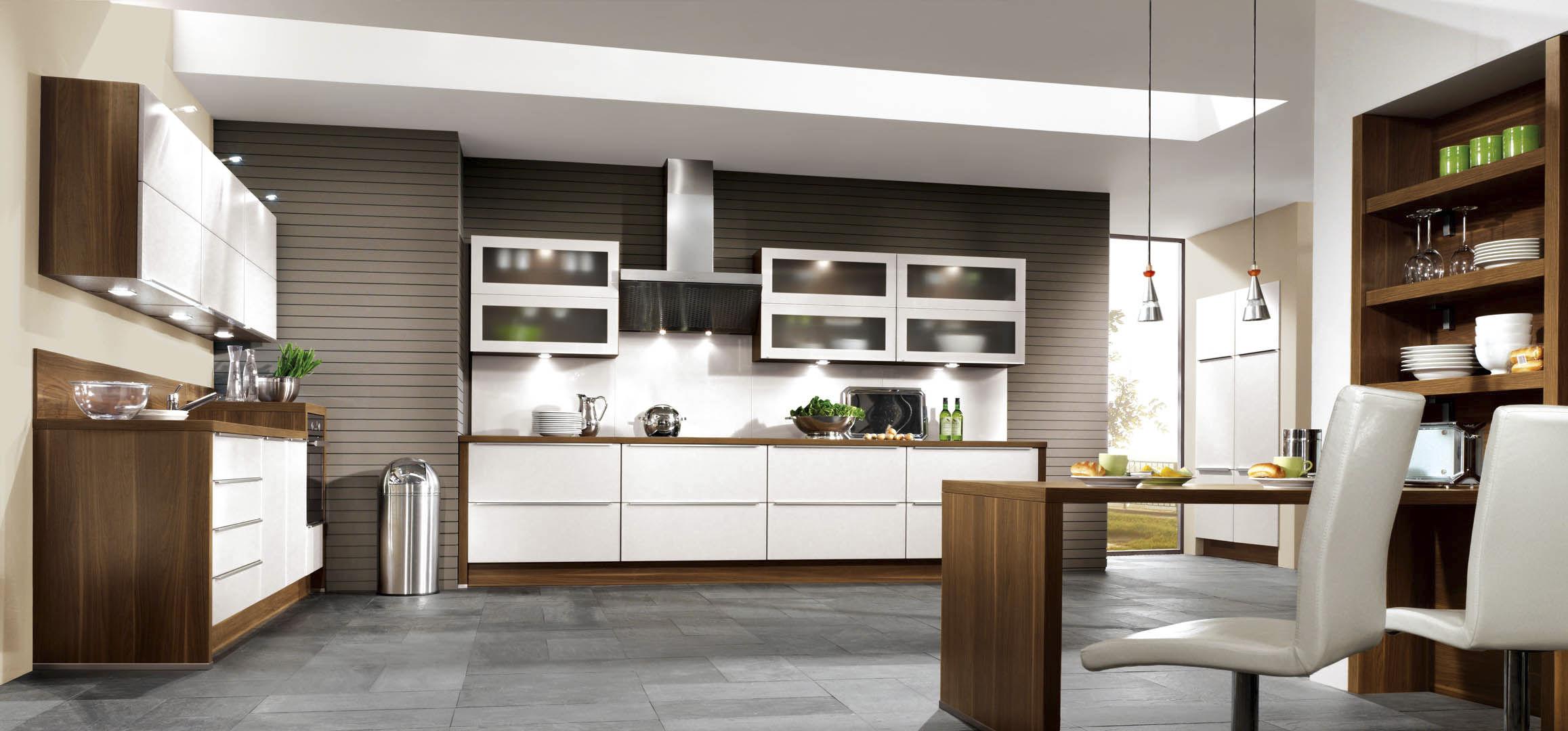 Moderne Küche / Holzfurnier / lackiert - FEEL 810 - nobilia