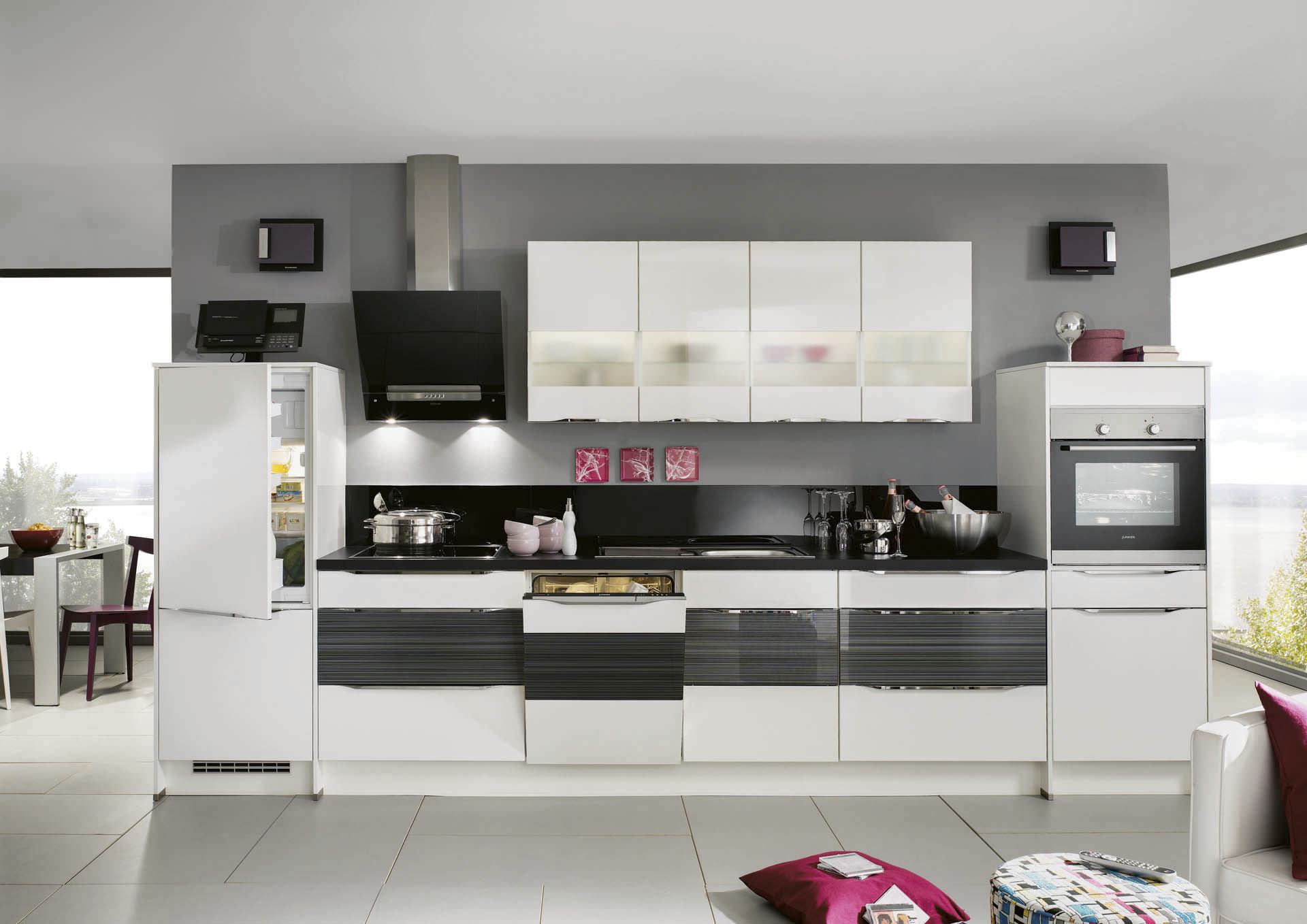Moderne küche / holz / lackiert / hochglanz   highlight 785   nobilia