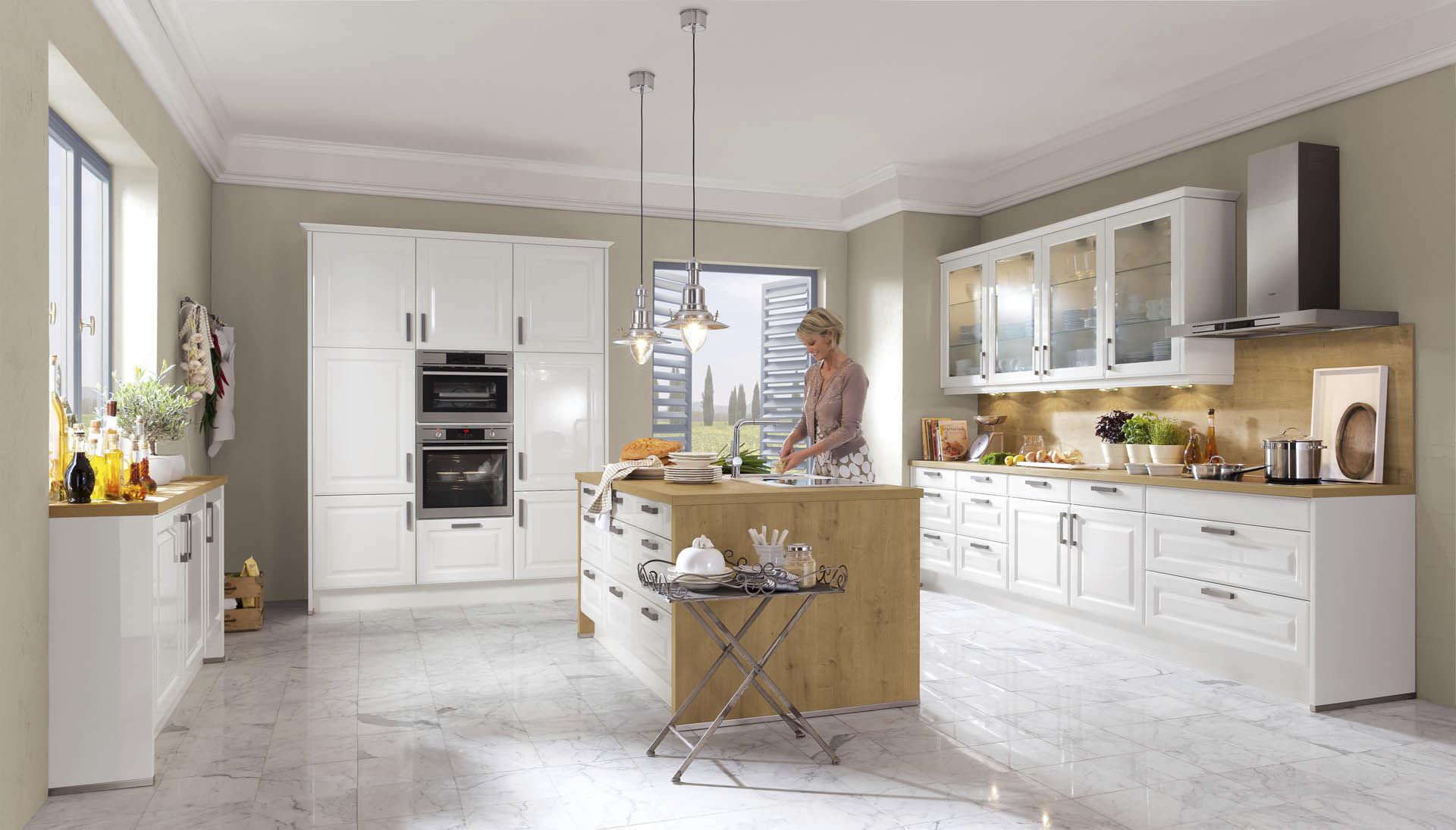 Moderne Küche / Holzfurnier / lackiert - DIAMOND 909 - nobilia