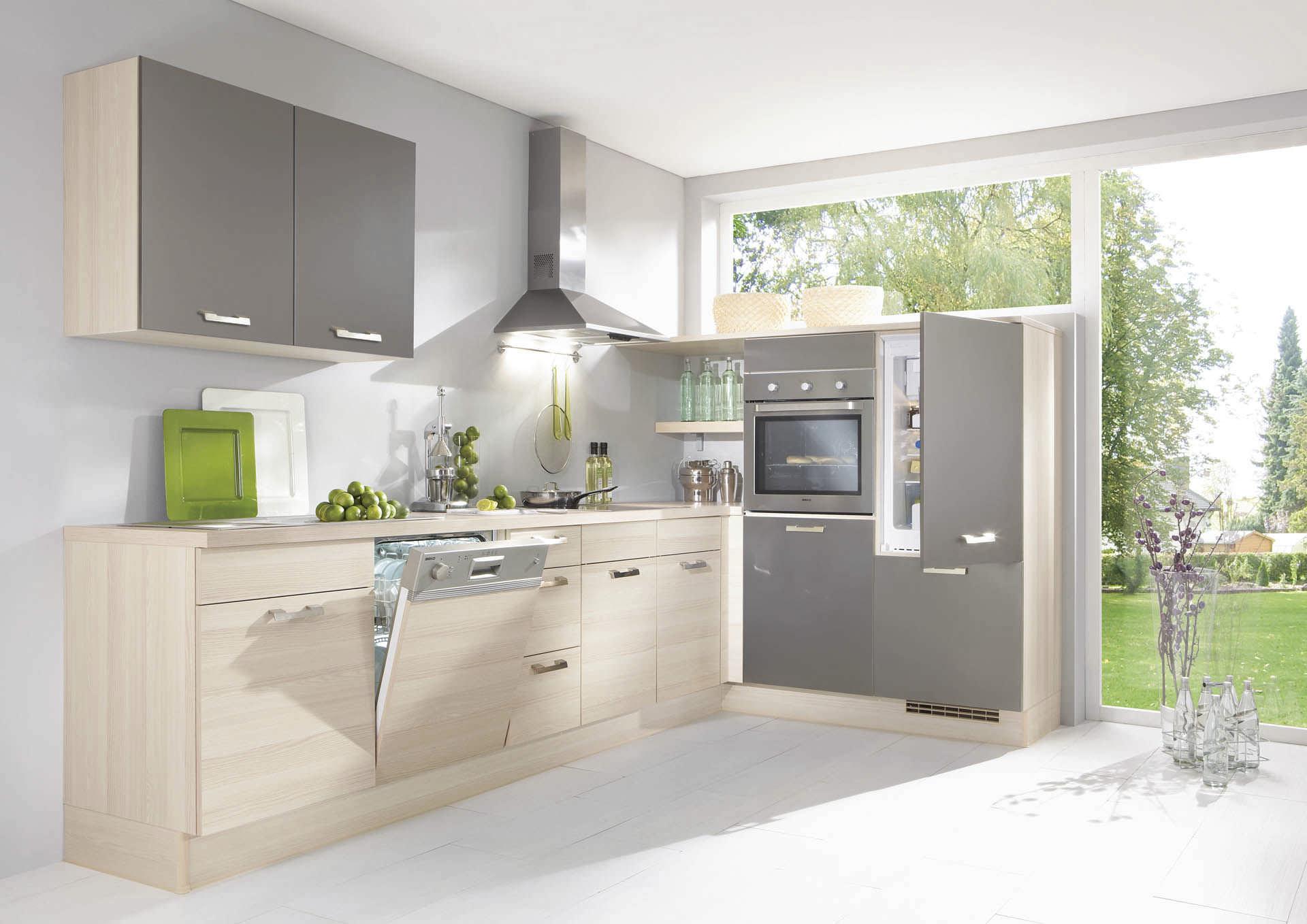 Bezaubernd Nobilia Küche Ohne Geräte Foto Von Moderne Küche / Holzfurnier / Mit Griffen