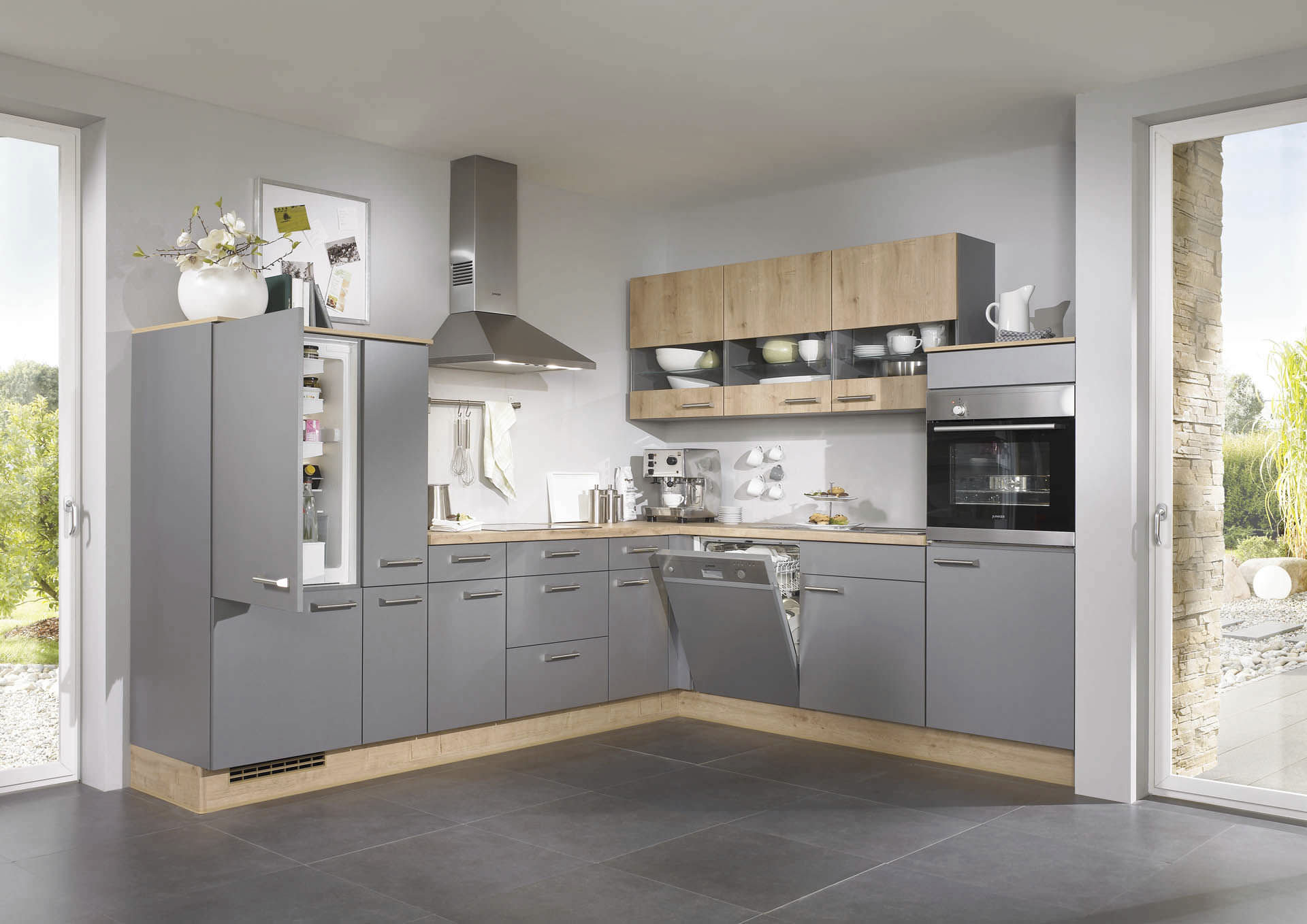 Moderne Küche / Holzfurnier / lackiert - PIA 638 - nobilia