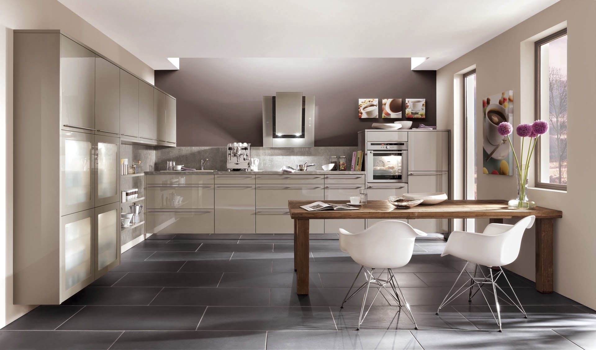 Moderne Küche / Holz / lackiert / Hochglanz - NOVA 854 - nobilia