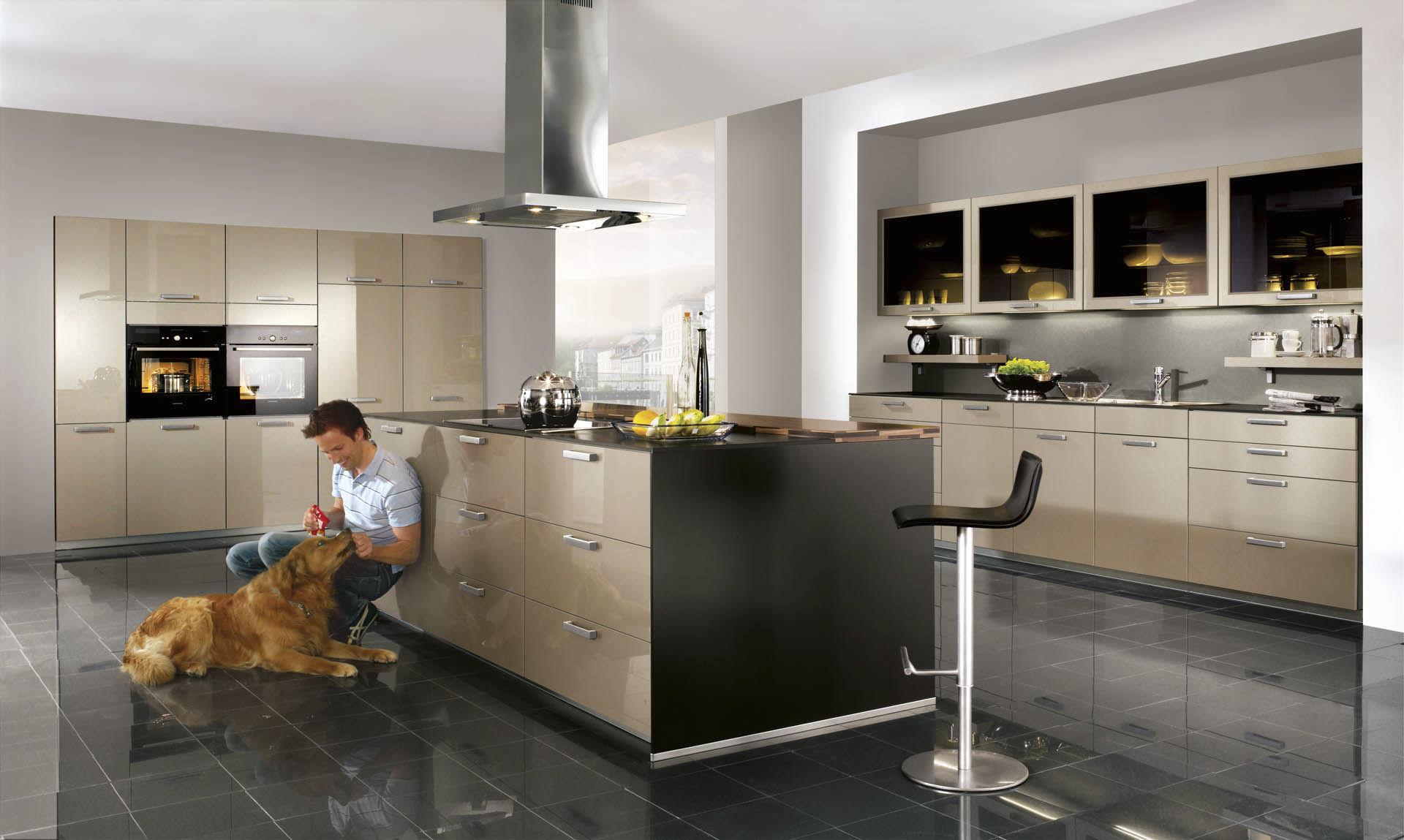 Moderne küche / holz / kochinsel / lackiert   xeno 660   nobilia