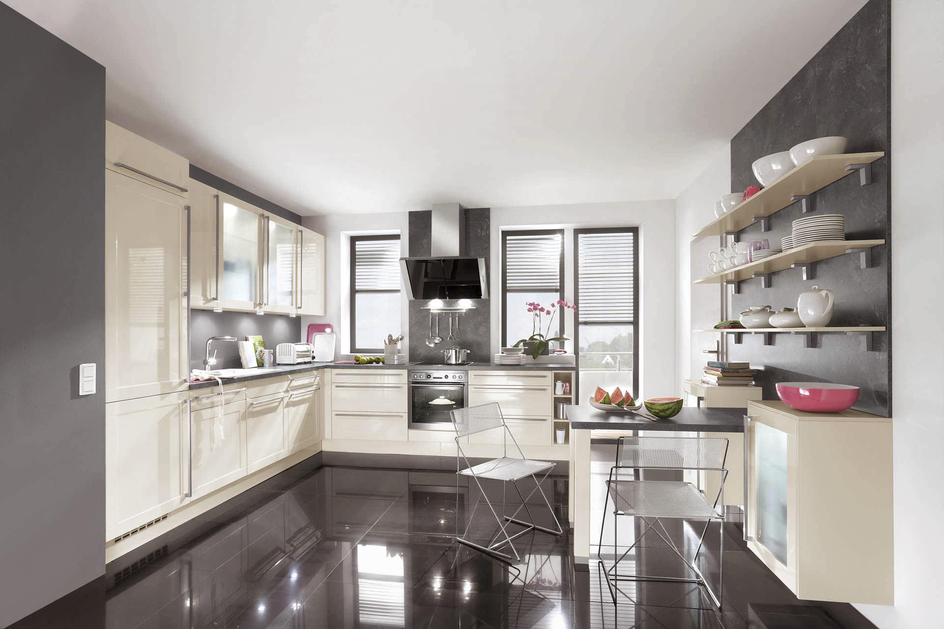 Moderne küche / holz / lackiert / hochglanz   arte 543   nobilia