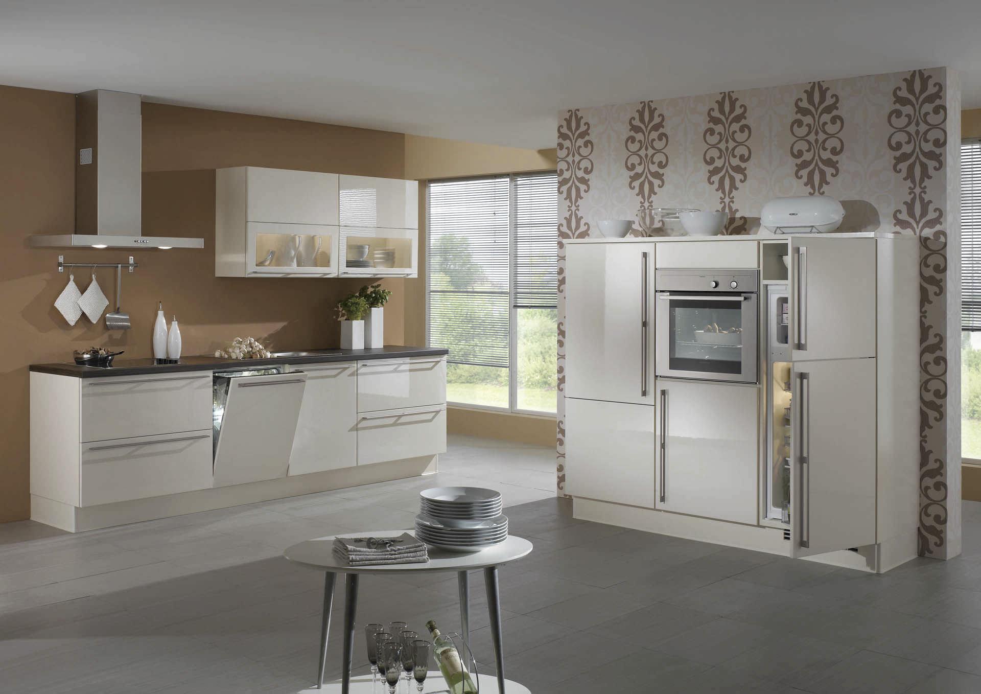 Moderne küche / holz / lackiert / hochglanz   lux 816   nobilia