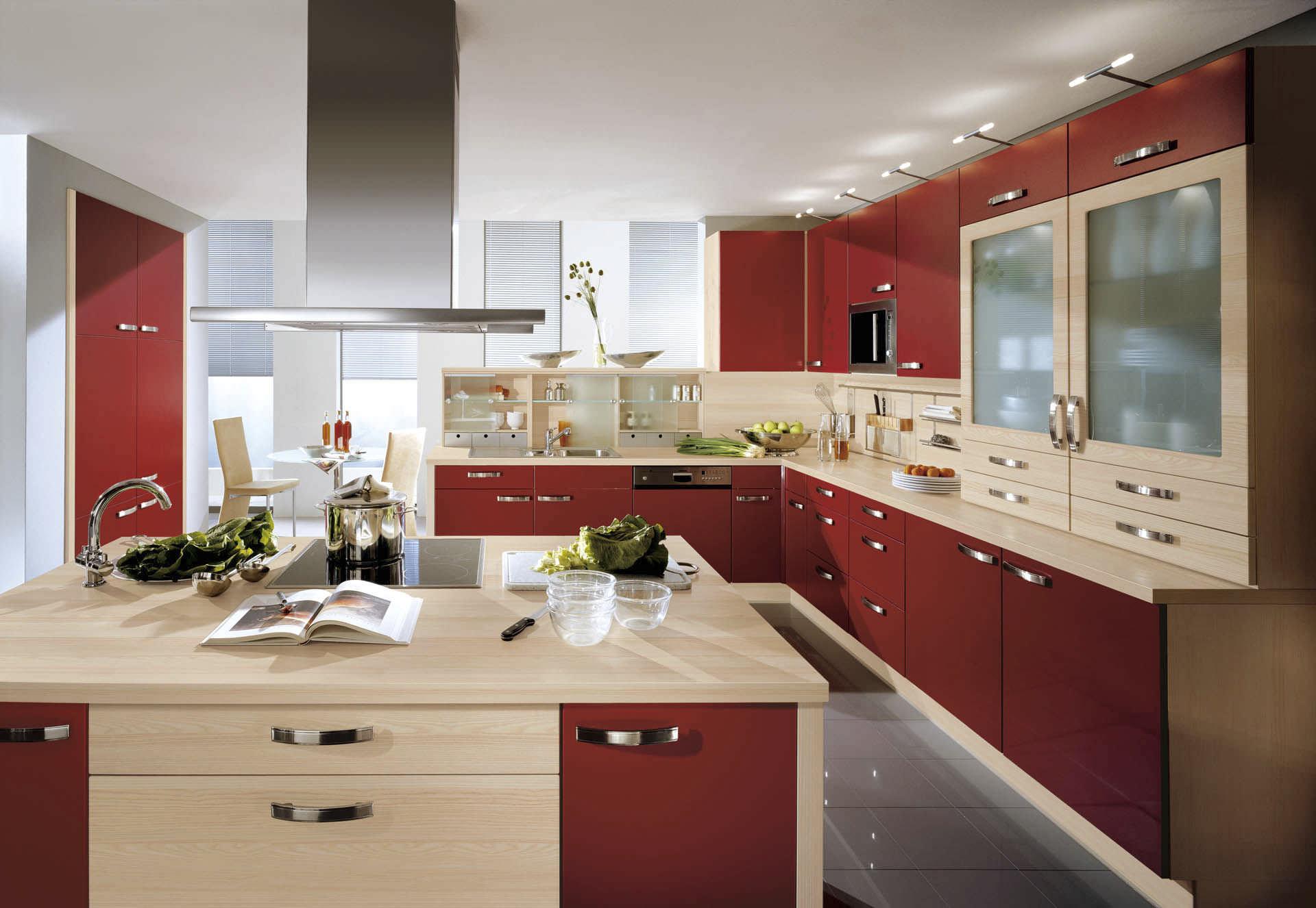 Moderne Küche / Holzfurnier / lackiert - PIA 669 - nobilia