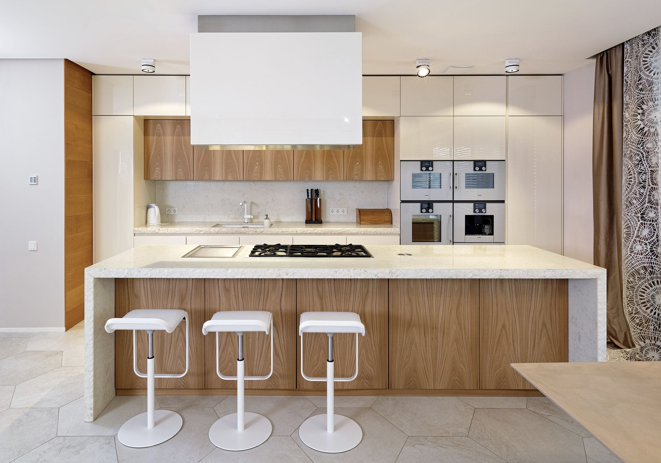 Moderne Küche / Stein / Ulme / lackiertes Holz - 201505 – CUCINA IN ...