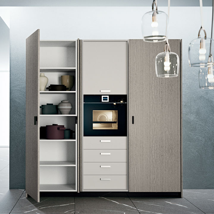 Moderner Lagerschrank für Küchen / Holz - FOLD AWAY DOORS - DIBIESSE