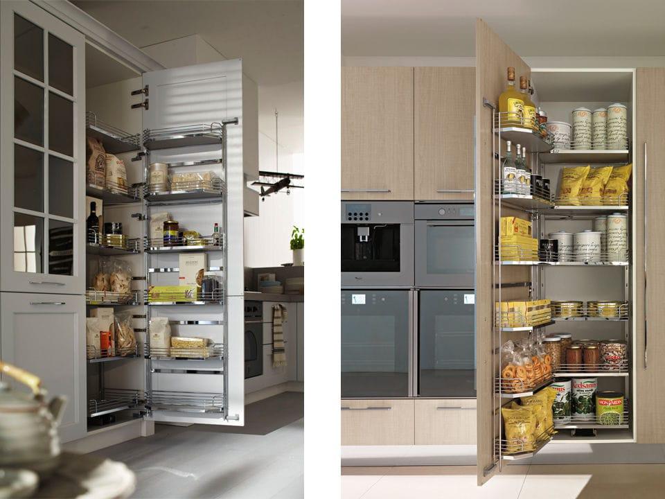 Moderner Lagerschrank für Küchen / Holz - ATTREZZATURE INTERNE ...