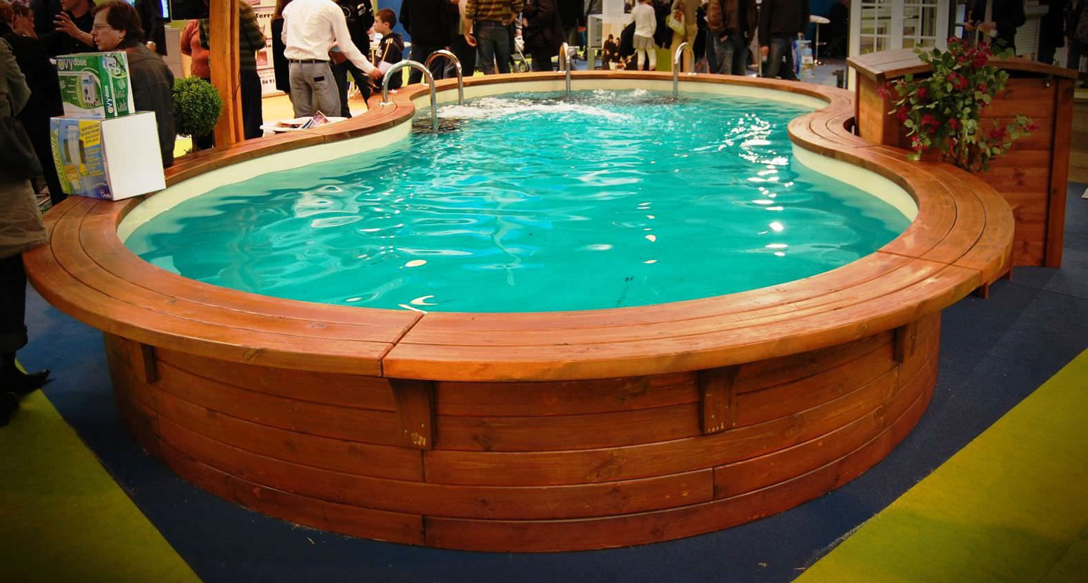 Holz-Poolumrandung - EcoCurves