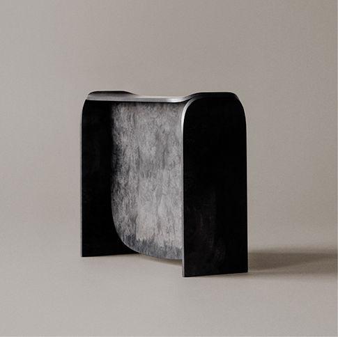 Moderner Hocker Holz Kupfer No 1 By Plueer Smitt Karakter