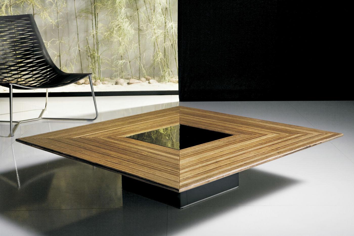Moderner Couchtisch / Holz / quadratisch / Innenraum ...